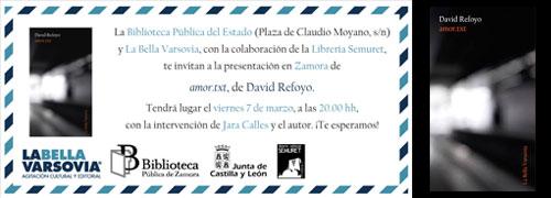 Presentación: amor.txt de David Refoyo