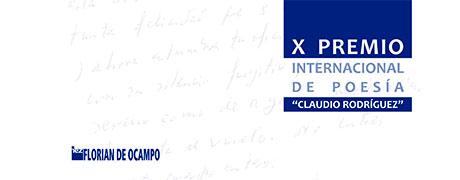 """X Premio Internacional de Poesía """"Claudio Rodríguez"""""""