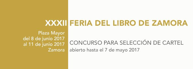 Concurso: cartel para la XXXII Feria del libro de Zamora 2017