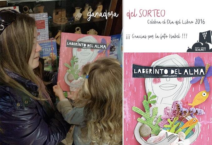 ganadora concurso Laberinto Ana Llenas Librería Semuret Día del libro Zamora
