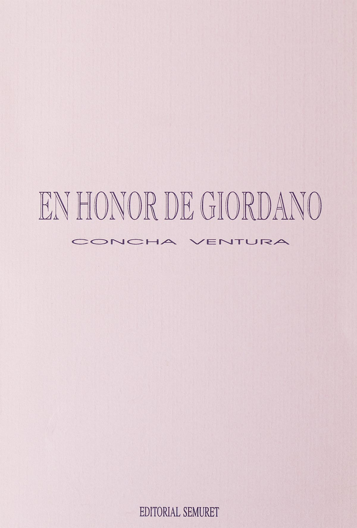 En Honor de Giordano