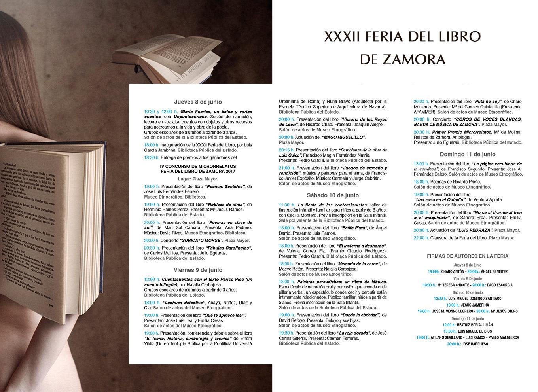 Libreria Semuret Feria del libro 2017 Zamora programa
