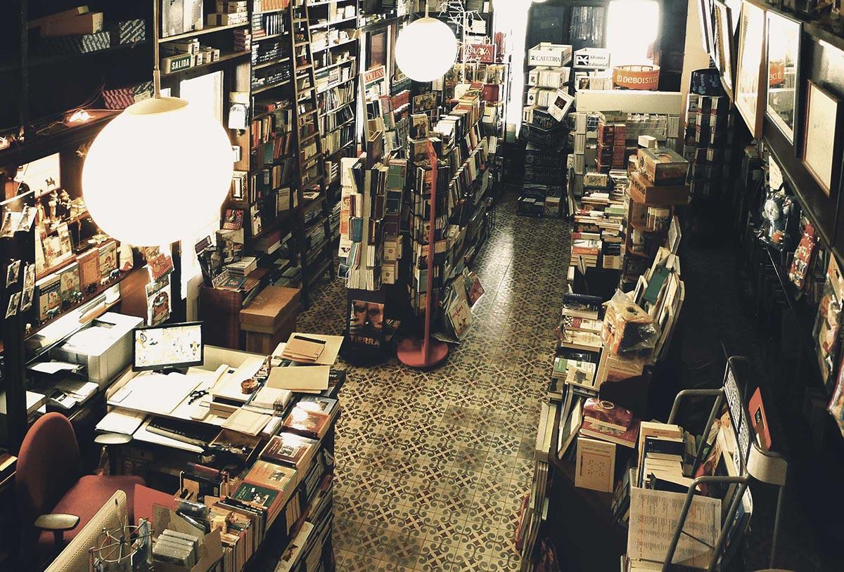 librería Semuret Zamora interior historia 1900